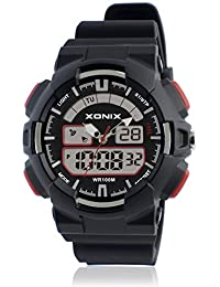 Reloj electrónico digital de múltiples funciones de los ni?os,Led 100 m resina resistente al agua alarma cronómetro hora dual doble pantalla chicas o chicos moda reloj de pulsera-D