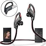 Auriculares Vodabang IPX4 Sudor Inalámbrico Deporte Auriculares Bluetooth Con Micrófono para Todos los Teléfonos Celulares Tablet Negro-Rojo