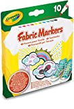 Crayola 58-8633 Set di 10 Pennarelli Sottili per Tessuti, Multicolore