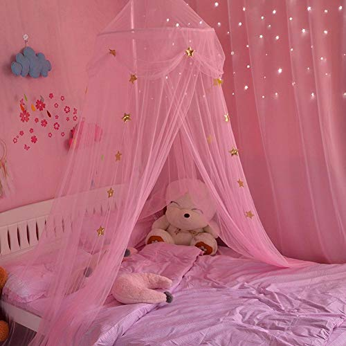 Moskitonetze Insektenschutz Babybett vorhang Baldachin Betthimmel Moskitonetz abweisend Insekten Kinder Prinzessin Zelte Schutz Dekoration Bettzubehör für Kinderzimmer oder 1.2m 1.5m 1.8m Kinderbett -