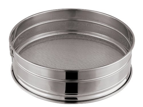 Paderno World Cuisine 8-5/8-Inch Stainless-Steel Coarse Mesh Flour Sieve, 12 Perforations by Paderno World Cuisine Paderno World Cuisine Mesh