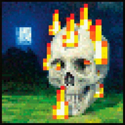 Empire 632777 Poster Jeu vidéo Minecraft Crâne en feu 61 x 61 cm