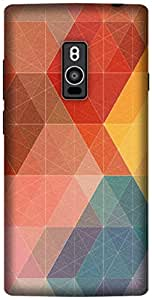 The Racoon Lean printed designer hard back mobile phone case cover for OnePlus 2. (Geometric)