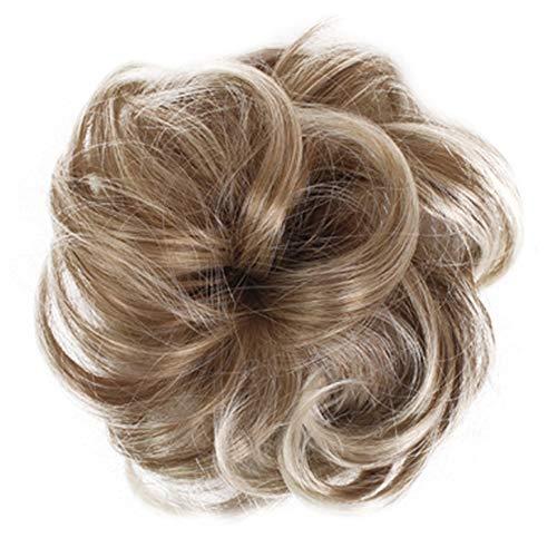 Kordelzug Haarteil (Demarkt Haargummi Haarteil für Haarknoten Pferdeschwanz Kordelzug Haar Verlängerung Haarteil Haargummi Hochsteckfrisuren, Brautfrisuren, gelockter unordentlicher Dutt)