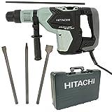Hitachi Bohr- und Meisselhammer DH40MEY + Bosch SDS-MAX Meisselset 3-tlg. Spitzmeißel / Flachmeißel / Spatmeißel