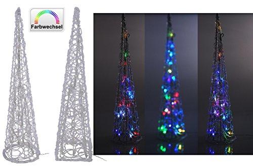 LED Leuchtpyramide - Farbwechsel Leuchtkegel Weihnachtsbeleuchtung IP44 Rund