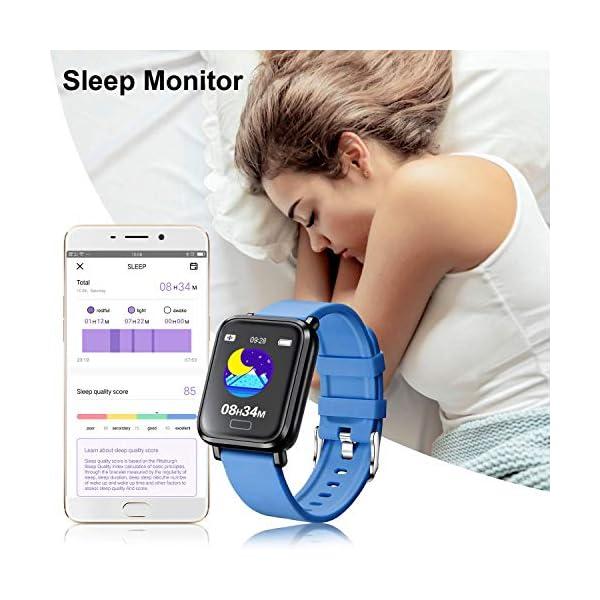Tipmant Reloj Inteligente Mujer Hombre Smartwatch Pulsera de Actividad Inteligente Impermeable IP68 Pulsómetros… 5