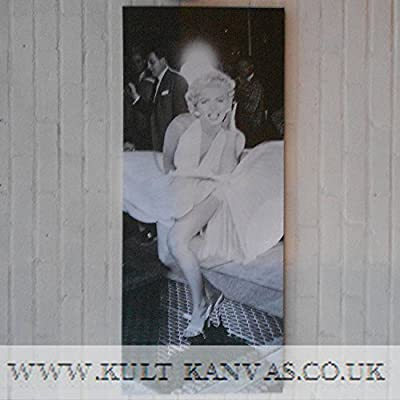 Marilyn Monroe Mono Wall Art Canvas Picture 120cm x 50cm x 2.5cm deep DELIVERY WITHIN 7 DAYS - cheap UK light shop.