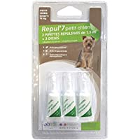 Générique Pipetas Répulsives AU Geraniol Anti tiques y Anti pulgas para Perros Pequeños x 3