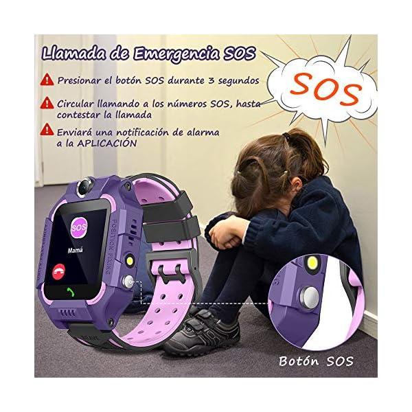 BANLVS Smartwatch Niños, 2019 Nuevo Reloj Inteligente Niños con Flashlight, IP67 LBS SOS, Cámara, Smartwatch con Ranura… 5