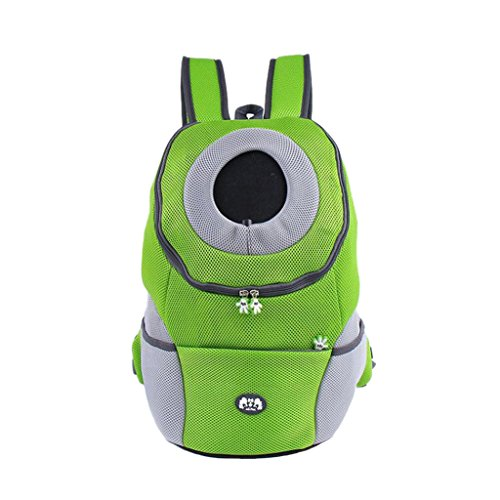Gazechimp Atmungsaktive Hund Transporttasche Hundetasche Rucksack Haustier Rucksäcke aus Oxford Tuch - Grün
