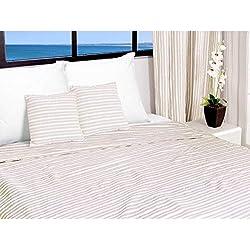 Soleil d'ocre Jeté de lit 220x240 cm COTONADE écru, Polyester Coton, Ecru, 240x220 cm
