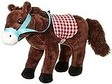 Happy People 58088 - Braunes Plüsch Pferd im Stall