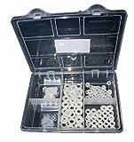 Sortiment Unterlegscheiben DIN 125 Polyamid Kunststoff 250 Teile M3, M4, M5, M6, M8