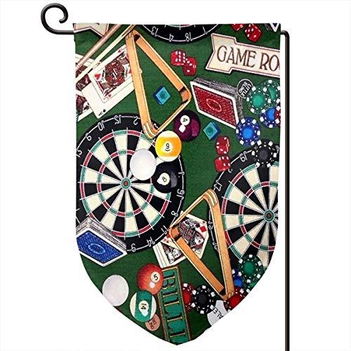 r Billard Darts Karten Garten Hofflagge 31,8 x 45,7 cm doppelseitig Polyester Willkommen Haus Flagge ()