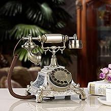 Teléfono antiguo vintage dial rotatorio teléfono moda hogar oficina viejo teléfono fijo