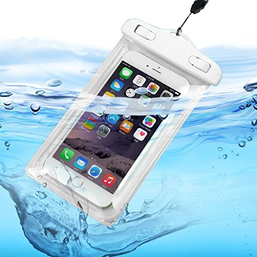 I-Sonite (White) Universal Transparent Mobile Phone , Passport, Money Underwater Waterproof Swimming Pool, Ocean Protection Bag Touch Responsive For Oneplus 5T