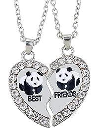 Kugelkette Pandabärchen NEU PANDA Anhänger mit Strass Halskette Kette