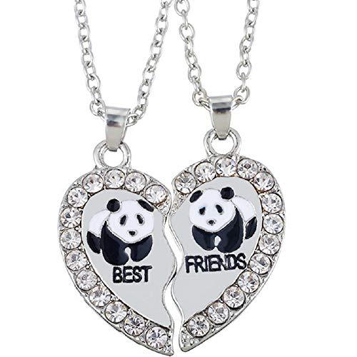 Panda Passt - MJARTORIA Damen Kette Halskette Best Friends