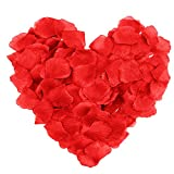 SAVFY 500 Pcs / Set Beautiful Silk Rose Petal for Wedding Party Decorations Flower Favors