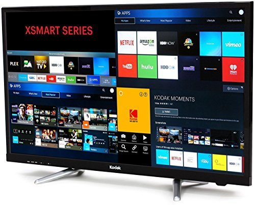 Kodak 80 cm (32 inches) 32HDXSMART HD Ready LED Smart TV (Black)