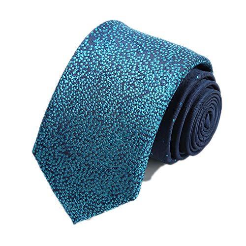 Preisvergleich Produktbild SEESUNGM Krawatte Herren Business Casual Krawatte Blau Bottom Sterne Mode Spezifikationen: 7Cm