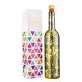 Flaschen-Licht, HUAFA Weinflaschen Lichter (Silber Flasche), Angetrieben von 3 Stück LR44 Batterie (inbegriffen).