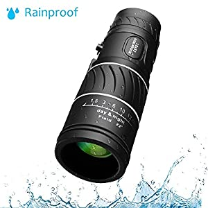 ARCHEER 16x52 Monocular Dual Focus Optics Zoom Telescope, Day & Night Vision for Wildlife Hunting Camping Bird Watching Live Concert 66m/ 8000m