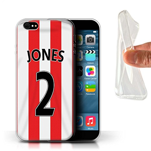 Offiziell Sunderland AFC Hülle / Gel TPU Case für Apple iPhone 6S+/Plus / Khazri Muster / SAFC Trikot Home 15/16 Kollektion Jones