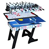 IFOYO 48 in / 4 ft Multi-function 4 in 1 Steady Combo Game Table, Hockey Table, Soccer Foosball...