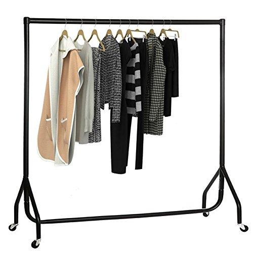 oypla-4ft-garment-clothes-rail-super-heavy-duty-all-metal-black