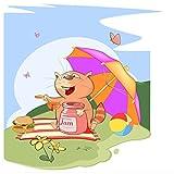 Topposter Poster für Kinderzimmer - Kätzchen beim Picknick (Poster in Gr. 60x60cm)