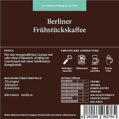 BKR | Kaffee | Berliner Frühstückskaffee | Arabica | Mischung 500g Bohne