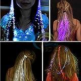 : Leuchtende Led Haar Zöpfe 10er Set- Très Chic Mailanda LED Haarsträhnen Glühwürmchen Rainbow Fasching Party