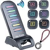 Semoss 6 in 1 Wireless Cercatore Chiave Key Finder Trova Oggetti Telecomando Localizzatore Senza Fili con Anti Perso 120dB Allarme + 6 Ricevitori e Trasmettitore + Portachiavi