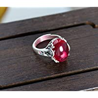 THTHT Vintage S925 Silver Ring Women