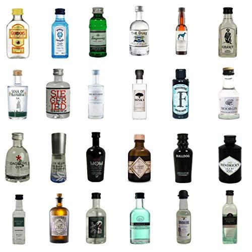 Adventskalender mit 24 Gin Miniaturen