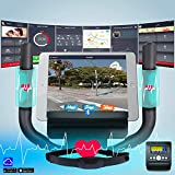AsVIVA Heimtrainer und Ergometer H22 mit App Bluetooth Konsole | 15 kg Schwungmasse, Riemenantrieb - inkl. Fitnesscomputer – Handpulssensoren und Pulsempfänger (inklusive Brustgurt) | schwarz - 3