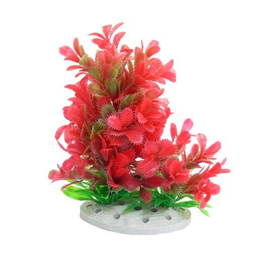 sourcingmap acquario Emulational Vivid erba Decor, 17cm, verde/rosso