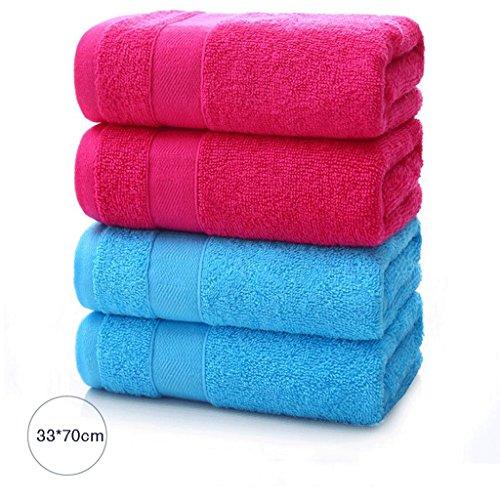 ZLR Solide Baumwolle verdicken Gesicht waschen Gesicht Handtuch Haushalt Erwachsene weichen saugfähigen Handtuch (Handtücher * 4) ( Farbe : G ) (Solide Verdicken Baumwolle)