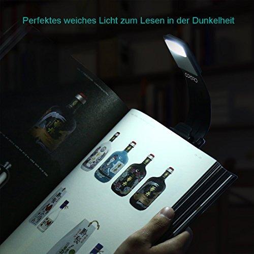 LED Klemmleuchte / Leselampe mit einstellbarer Helligkeit - 4