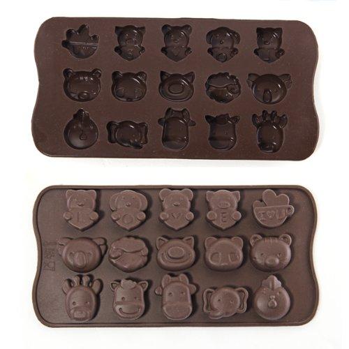 lgking Supply Moule en silicone en forme danimaux pour chocolats, bonbons, savons et glaçons