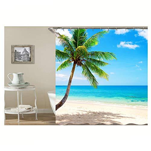 Aooaz accessori per la vasca coconut palm beach tende per la doccia coconut palm beach 180x180cm tende doccia senza tappeto