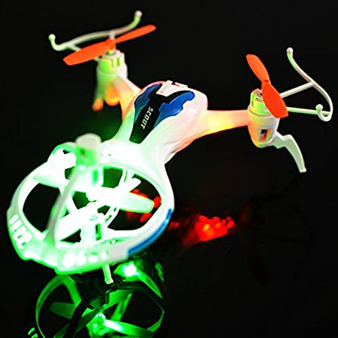 Triangular UFO Spacecraft 4CH 6 Axis Gyro RC Quadcopter with Automatic Cruise 3D Flips White