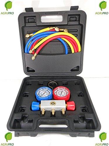 Preisvergleich Produktbild ReporShop - MALETA MANOMETROS ALUMINIO 2 VIAS 68mm CON VISOR R22 R407C R404A R134A - GSOXYKIT