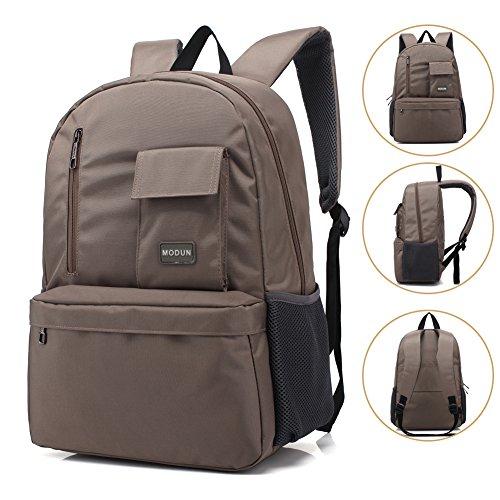 Imagen de 15.6 pulgadas de trabajo  /  de negocios /  de ordenador portátil para hombres y mujeres, caqui peso ligero resistente al agua hombro bolsa casual para la escuela, el trabajo, viajes