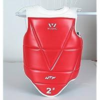 wesing aprobado WTF Taekwondo pecho pantalla Taekwondo Protector de pecho guard sólido Reversible
