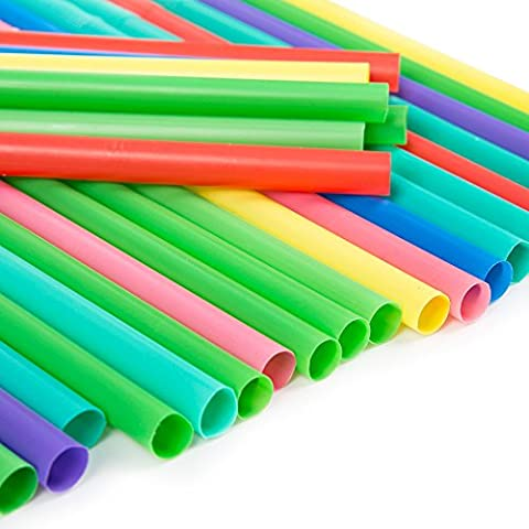 Jumbo coloré pailles flexibles–Idéal pour les smoothies et Milkshakes 300