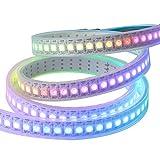 CHINLY 1m 144leds WS2812B einzeln adressierbaren LED-Streifen 5050 RGB SMD 144 Pixel Traumfarbe wasserdichtes IP67 Weiß PCB 5V DC
