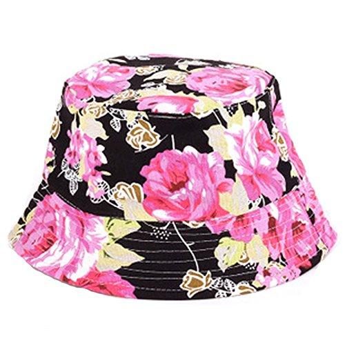 Fischerhüte Sommerhut für Damen, faltbar, Leinen, breite Krempe Pusheng (Hut Leinen)